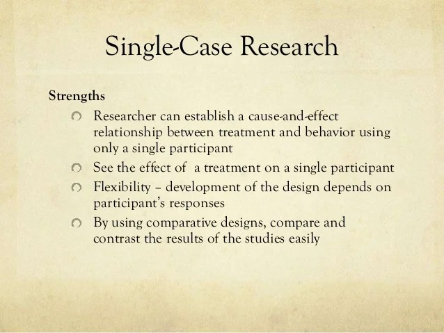 Experimental Quasi Experimental Single Case And Internet Based Res