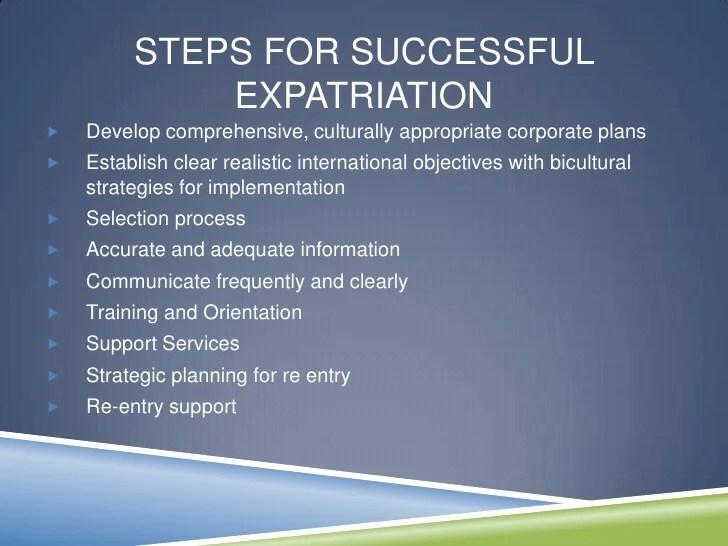 Expatriates And HR Presentation