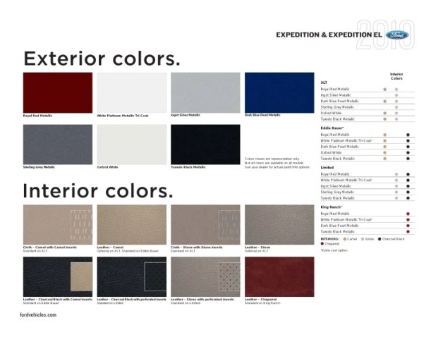 Ford Expedition Interior Colors
