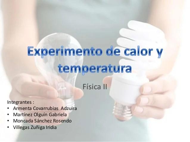 Experimento de calor y temperatura