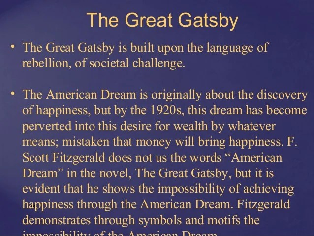 Great Gatsby Essay Thesis American Dream Essay Thesis The American