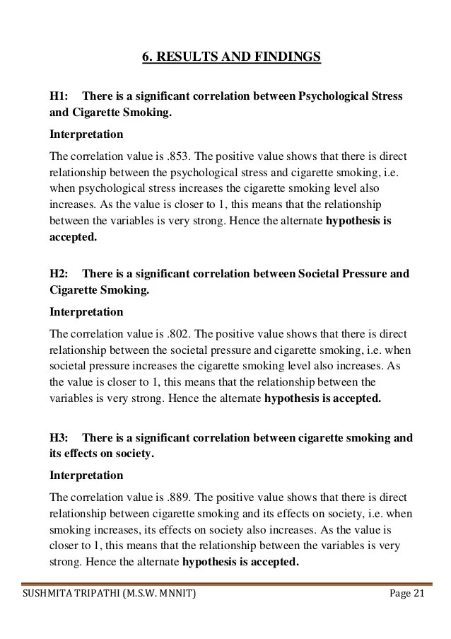 Smoking Research Paper Tobacco Market Research Paper Questionnaire