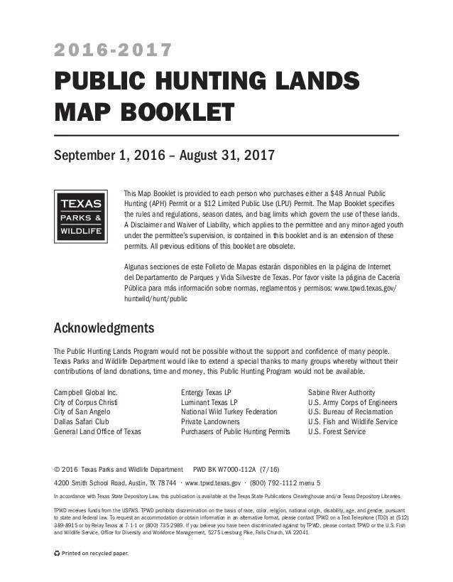 Texas Public Hunting Land Map 2019 : texas, public, hunting, Public, Hunting, Lands, Booklet, 16-17