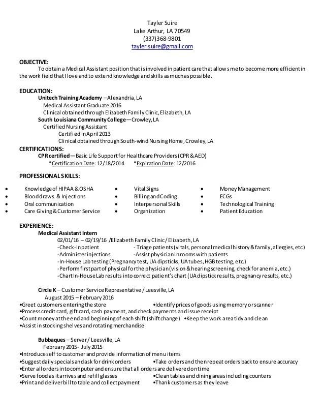 MA Resume