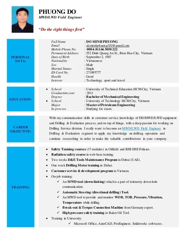 Mwd Field Engineer Cover Letter