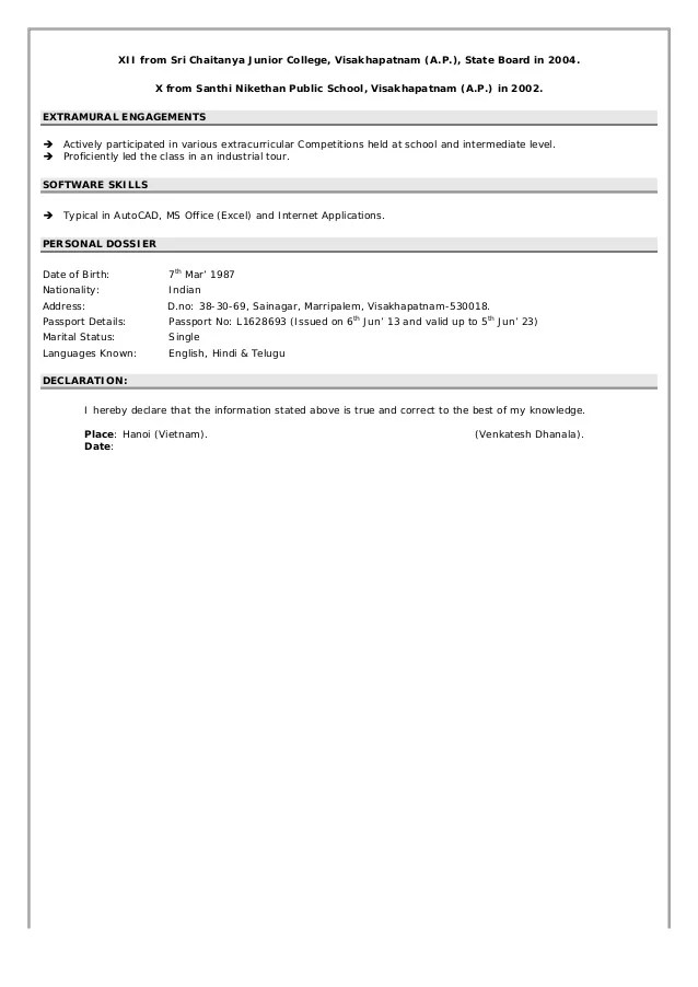 Venkatesh Qc Resume
