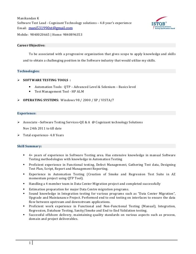 Cover Letter For Fresher Software Testing | Example Good ...