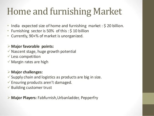 India Home Furnishing Ecommerce Fabfurnish V S Urbanladder Supply C