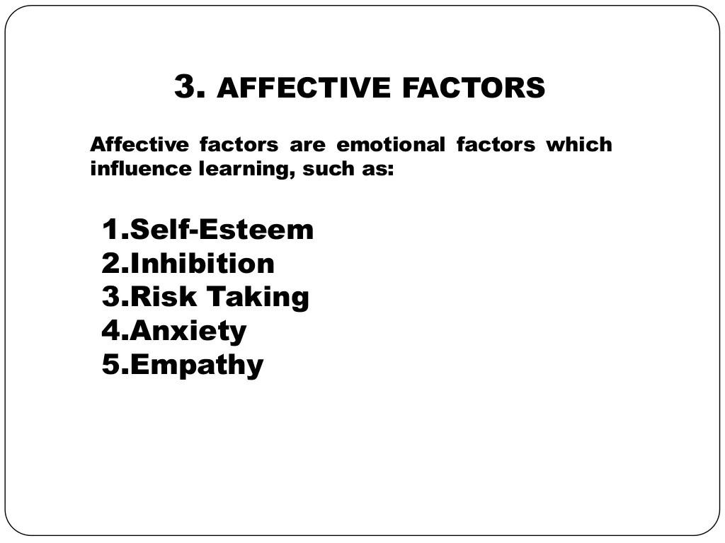 Factors affecting second language acquisition