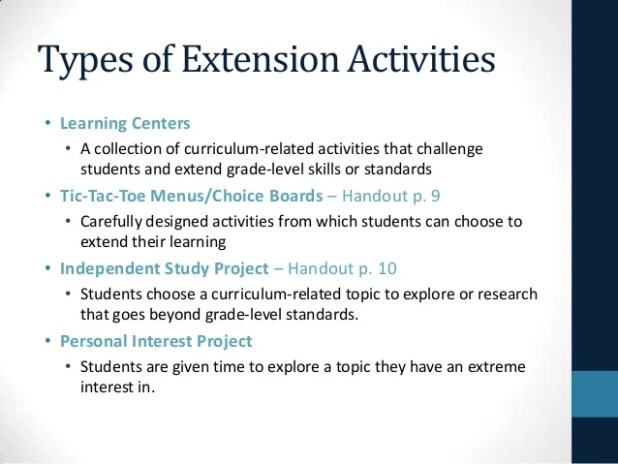 Learning Activities For Gifted Students Giftsite