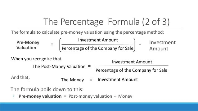 pre money valuation how