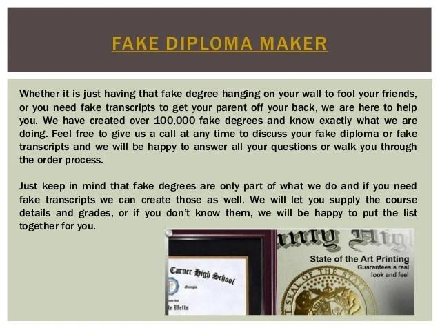 fake diploma maker free