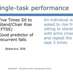 Chair Stand Test Elderly Wooden Glider And Ottoman Falls In Symposium 2010 26