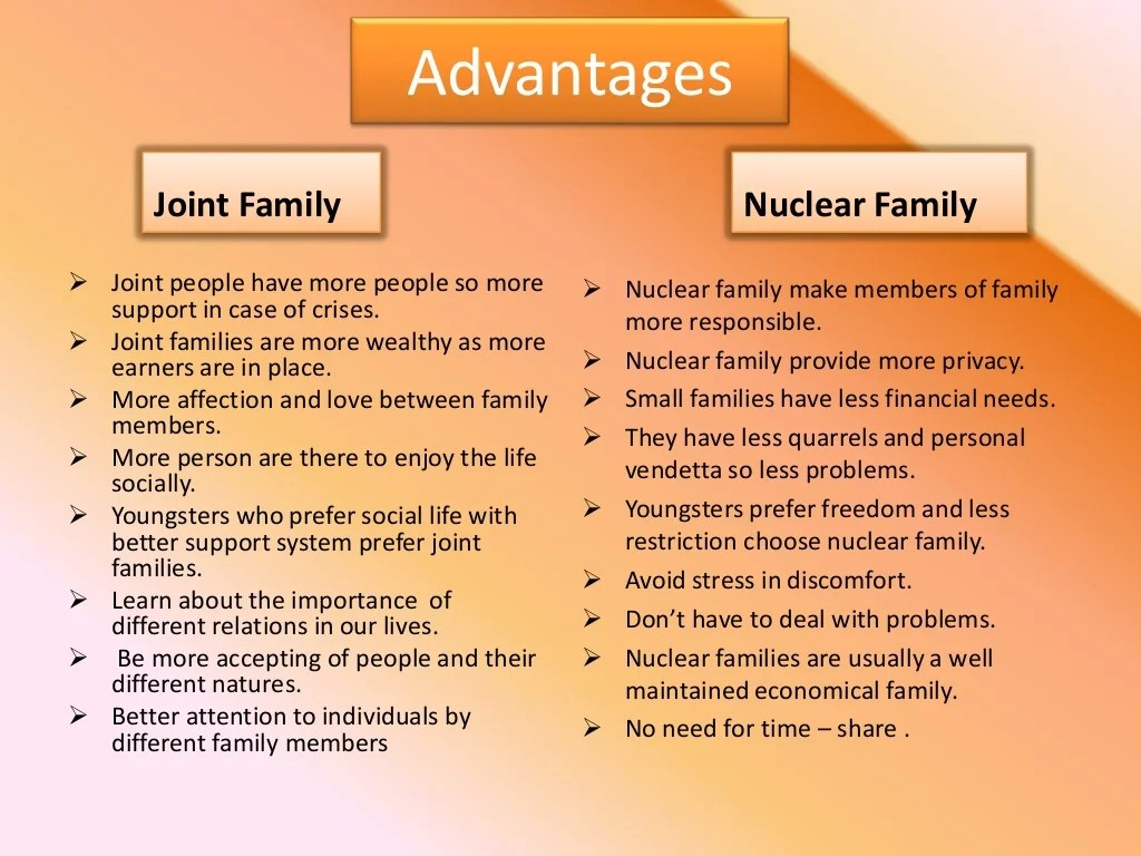 Joint Family And Nuclear Family