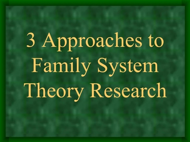 Family Systems Theory Research Paper Academic Writing Service