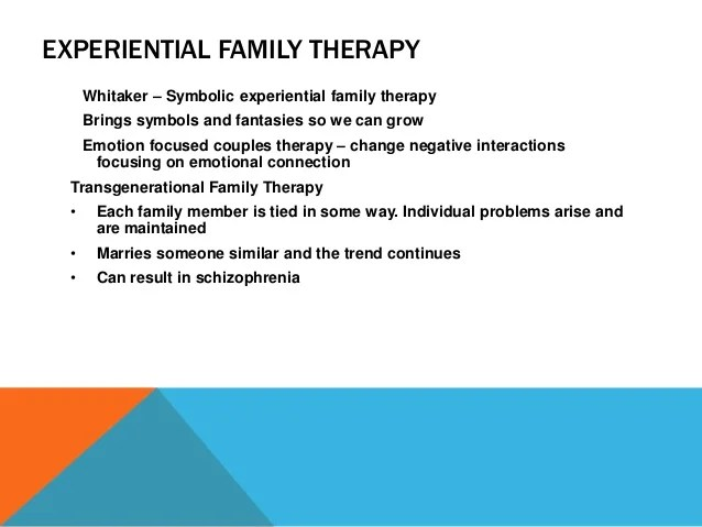 Emotion Focused Therapy Family