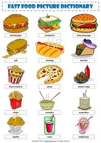 Food Vocabulary Worksheet Esl - Rcnschool