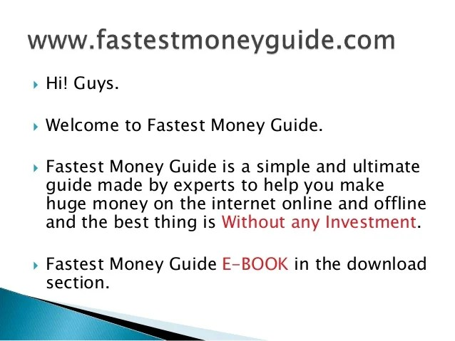 How To Make Money Fast Illegally