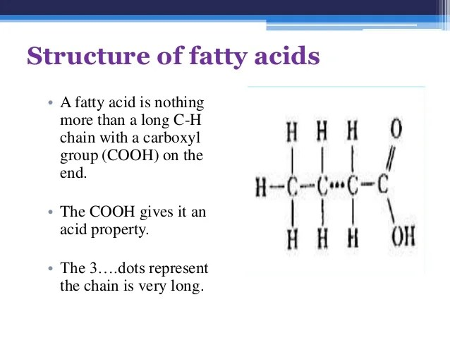 Fatty acids and triglycerides