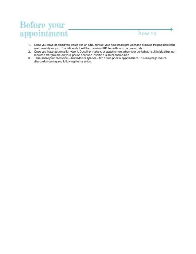 IUD Information Sheet