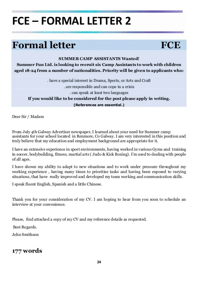 FCE & CAE Real Writing Examples