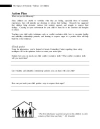 Domestic Violence Worksheets For Children - wiildcreative