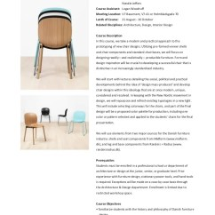 Chair Design Course N S Rocking Furniture In Denmark Workshop Fall 2014 Syllabus