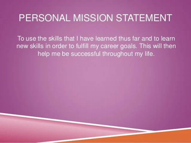 personal mission statement samples