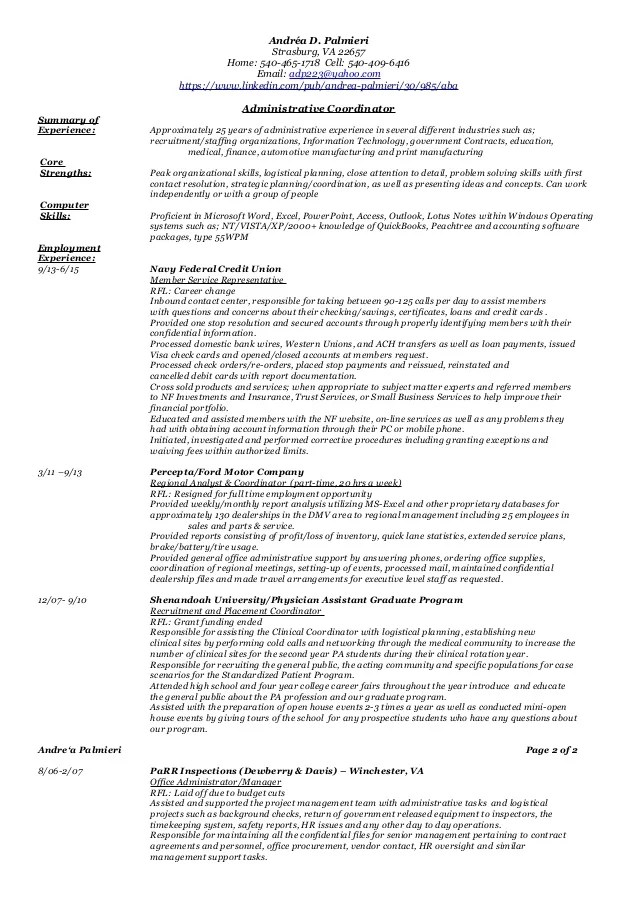 Administrative Functional Resume 2
