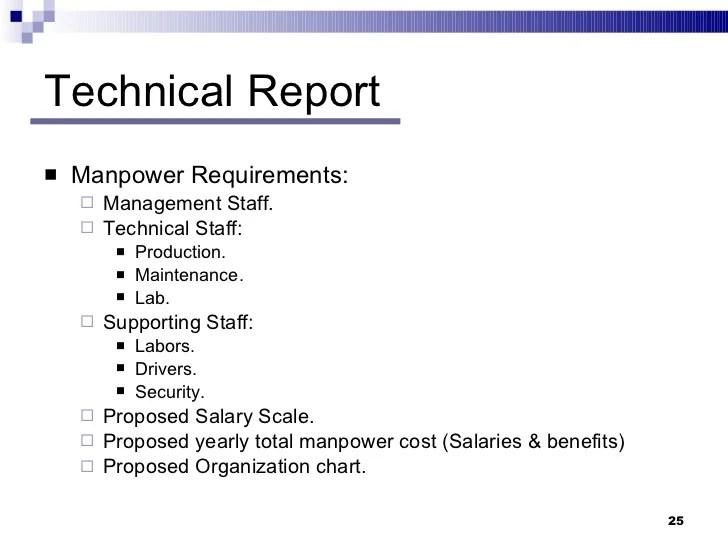 technical report also feasibility studies rh slideshare