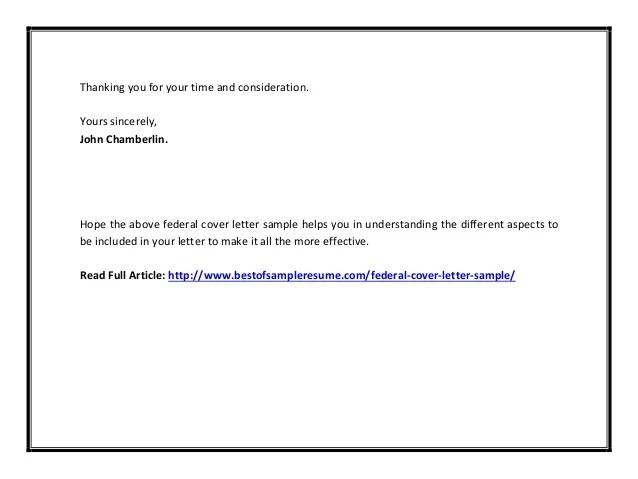 Federal cover letter sample pdf