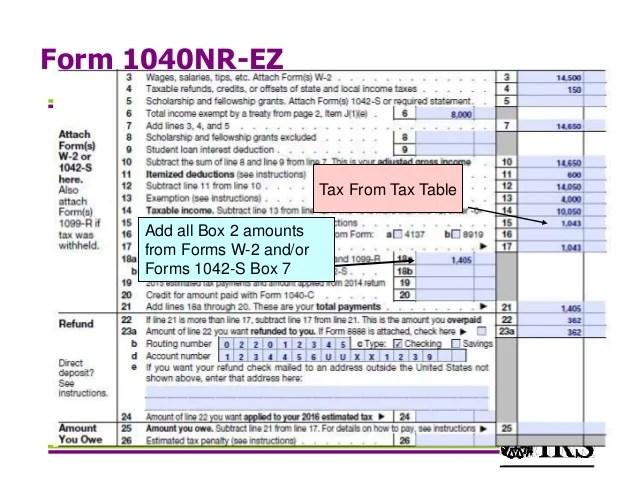 Form 1040nr 2017 Mersnoforum