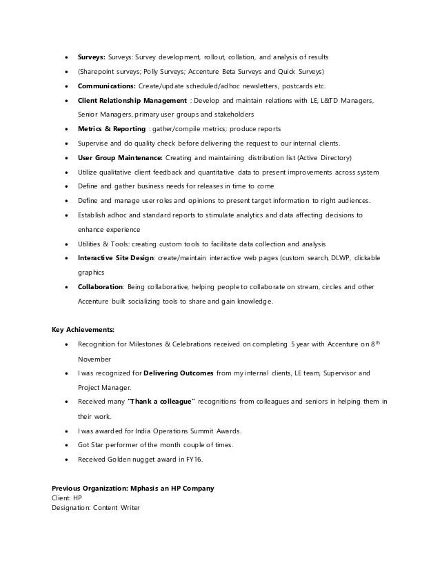 update resume accenture portal