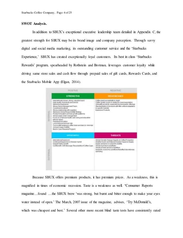 Starbucks Research Paper Market Analysis Of Starbucks Research Paper