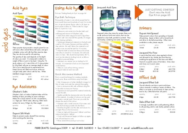 acid dyes also fibrecrafts colour crafts rh slideshare