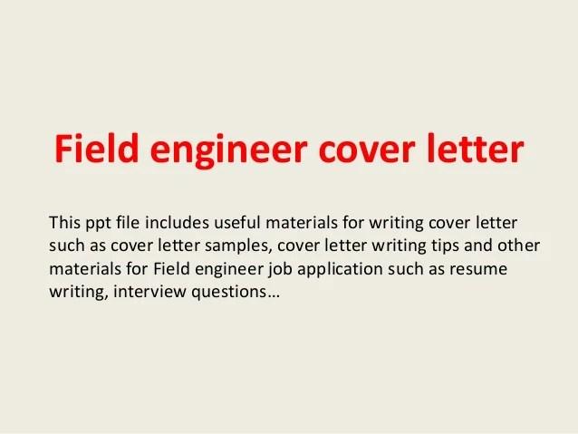 Field Engineer Cover Letter Opucukkiesslinghalliburton