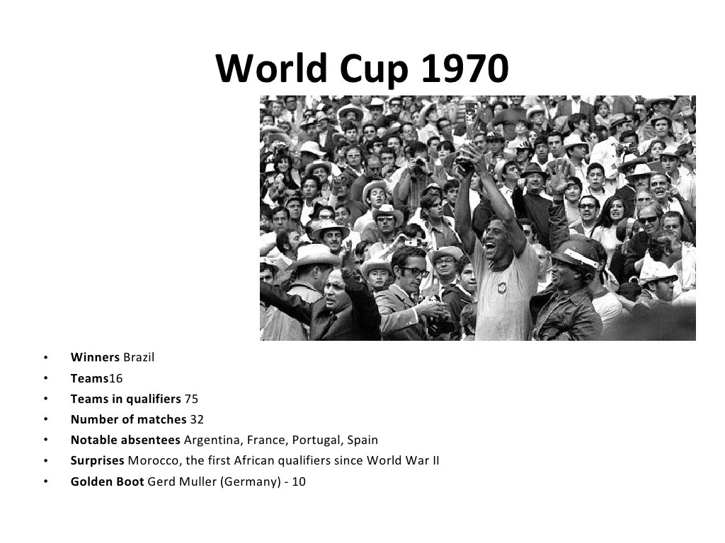 World Cup 1970 Winners Brazil