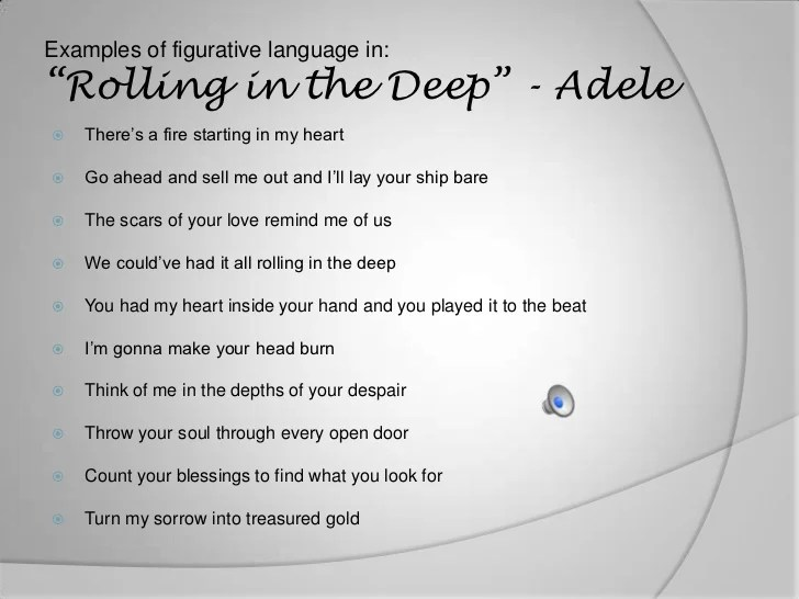 songs with figurative language
