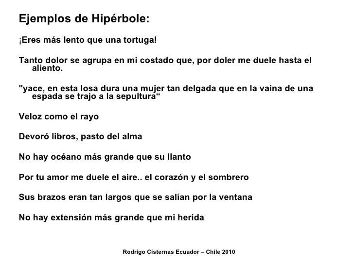 Ejemplos De Personificacion Hiperbole   Cover Letter Moves ...