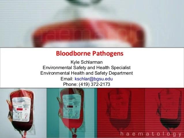Bloodborne Pathogens Training by Bowling Green State University