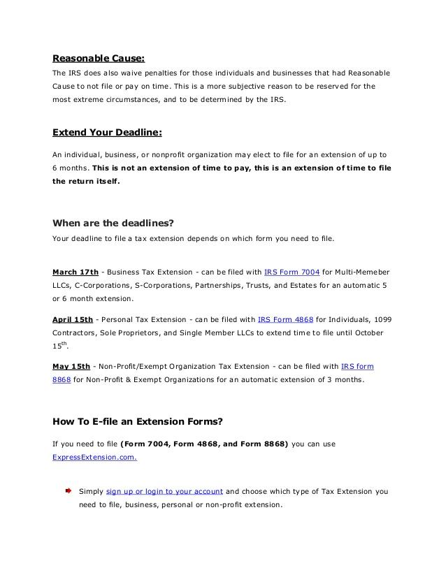File Form 8868 Online E File File Form Efile Form