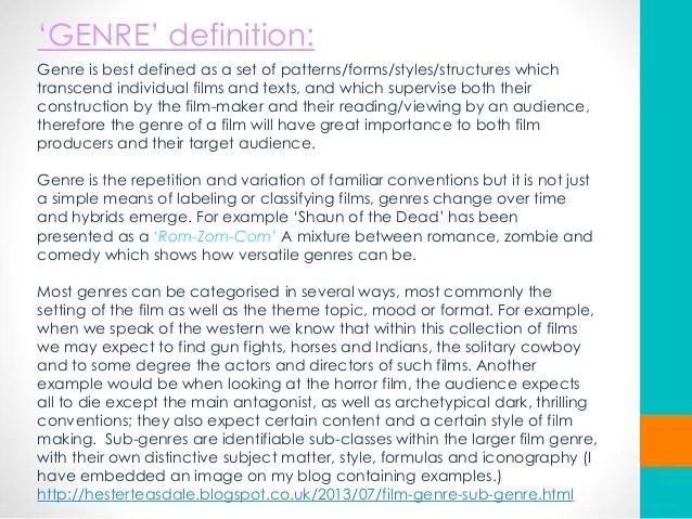 Film Genre Powerpoint