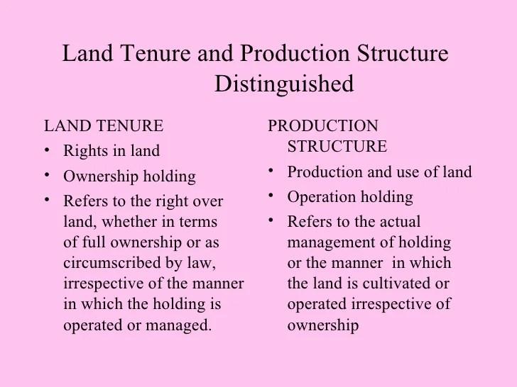 LAND & AGRARIAN REFORM