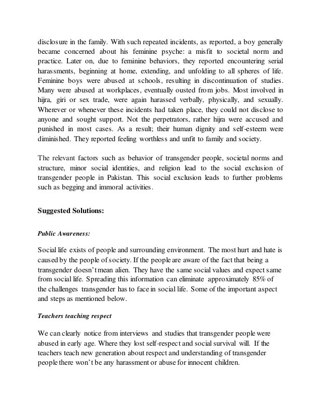 Transgender Essay Sociology Assignment About Tfa Houston Transgender