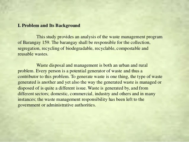 Waste Management Research City University Of Pasay BPG