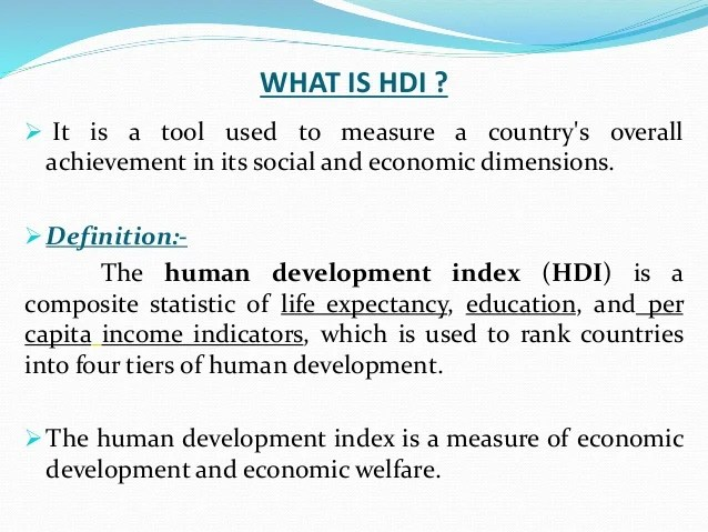 Human development report meaning