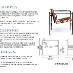 Chair Design Back Angle Wooden Chaise Lounge Plans Le Corbusier Designs Dimensions 7