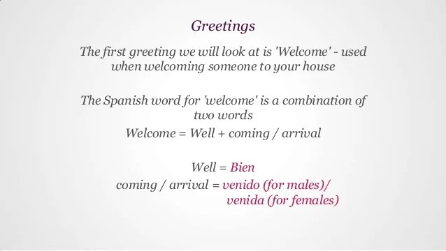 How Say Message Spanish