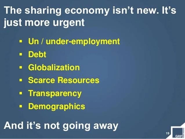 19The sharing economy isn't new.