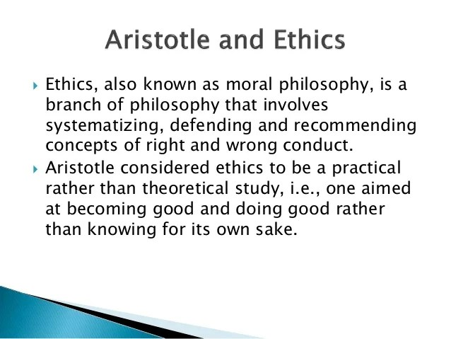 ARISTOTLE PHILOSOPHY
